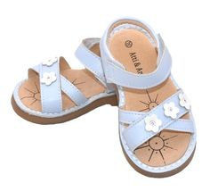 These gorgeous little girls sandals from Atti & Anna have a fresh, clean look that is perfect for the warmer weather.