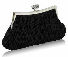 Women's black evening bags