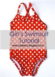 Ruby from ZaaBerry shares a free pattern and tutorial on her blog for making a little girl's swimsuit.