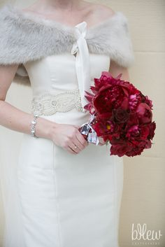 Beautiful winter bride