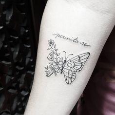 Permite-se ser o q vc quiser nessa vida, menos infeliz 😉 #ink #inkd #inkdgirls #instatattoo #tattoolove #meninastatuadas #tatuagensfemininas #inspiration #borboleta #inspirationtattoo #yurgantattoo #tattoodelicada