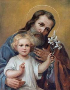 Joseph and Jesus Religious Images, Religious Art, Catholic Saints, Roman Catholic, Jesus Father, Pictures Of Christ, Jesus Painting, Our Father In Heaven, Christian Images