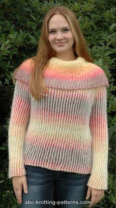 8d2442de21f02 ABC Knitting Patterns - Reversible Brioche Sweater Jumper Knitting Pattern