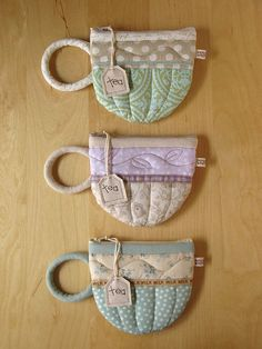 tea cup patchwork pottety