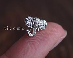kraakbeen oorbel 16g helix earring helix piercing kraakbeen piercing tragus earring tragus piercing conch piercing olifant #1E01S