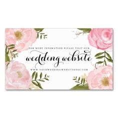 2198 best floral business card templates images on pinterest modern vintage pink floral wedding website card accmission Choice Image