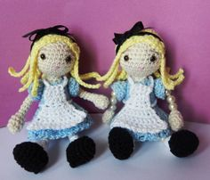 7/4/15  Bling Bling Doll Alice and Amirigumi Alice - Link to free pattern (may not be working)