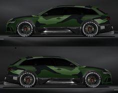 Jon Olsson Audi in a green camo look - Fahrzeuge - Car Audi Allroad, Audi Tt Cabrio, Audi Rs6 Wagon, Audi Kombi, Maserati Ghibli, Aston Martin Vanquish, Bmw I8, Matte Black Bmw, Tt Tuning