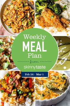A free 7-day, flexible weight loss meal plan including breakfast, lunch and dinner and a shopping list. All recipes include calories and updated WW Smart Points. 7-Day Weight-Loss Meal Plan This week I added some Asian inspired favorites to the meal plan including a new Tofu recipe! I love tofu, but if you're not a […] The post 7-Day Weight-Loss Meal Plan (February 24-March 1) appeared first on Skinnytaste.