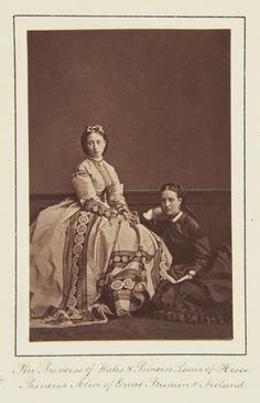 Alexandra, Princess of Wales and Princess Alice, wife of Louis of Hesse, 1864 [in Portraits of Royal Children Asian History, British History, Tudor History, Queen Victoria Family, Victoria And Albert, Princess Alice, Princess Of Wales, Historical Women, Historical Photos
