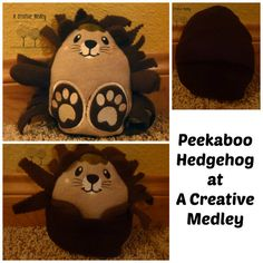 Peekaboo Hedgehog In the Hoop Stuffed Softie  by ACreativeMedley