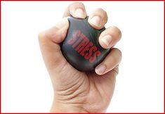 Hand holding stress ball