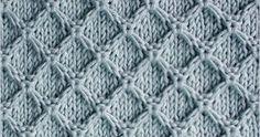 Knitting Stitch Patterns: Diamond Honeycomb