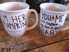 Love the idea of writing favorite/inspirational quotes on a set of mugs