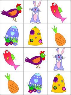 Memory, free printable / Contes pour enfants - Jeux éducatifs de Tibous - Spécial Pâques - Le mémory de Pâques