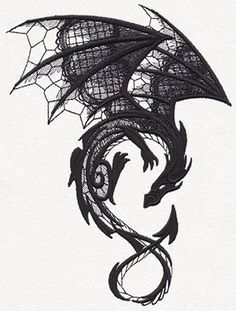 Dark Creatures - Dragon | Urban Threads: Unique and Awesome Embroidery Designs