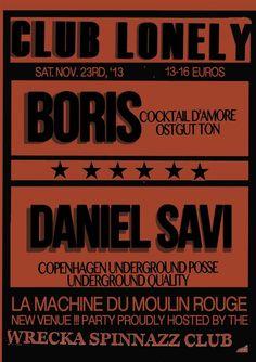 CLUB LONELY Boris Daniel Savi WSC