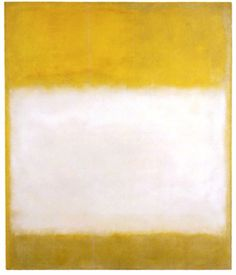 Mark Rothko, Untitled (Yellow and White), 1956, 68 ¼ x 58 inches