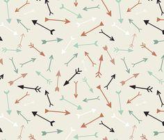 arrows -CUSTOM fabric by katarina on Spoonflower - custom fabric