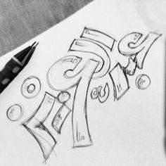 #sketch #pencil #beautiful #lettering #drawing #typography #typo #arabic #خط #خط_حر #تايبوجرافي #كاليجرافي #حروف #سكتش Arabic Calligraphy Art, Calligraphy Quotes, Arabic Art, Caligraphy, Graffiti Words, Arabic Design, Art Story, Typography, Lettering