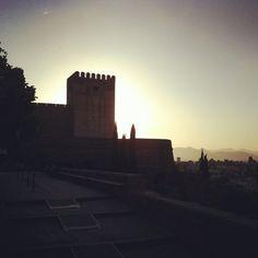 Alhambra a la puesta de sol  (Tomada con instagram)