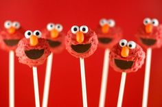 Going to attempt Bakerella's Elmo cake pops one of these days for my Elmo obsessed 1 year old.