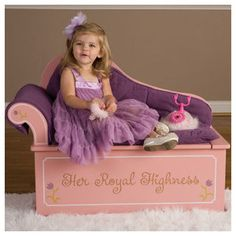 Princess Fainting Couch with Storage by Levels Of Discovery at LuxuryLamb. Shop for Princess Fainting Couch with Storage from Play-Time / Toy Chests / Toy Boxes collection at affordable prices. Fainting Couch, Little Girl Rooms, Little Girls, Princess Painting, Storage Bench Seating, Diy Bench, Toy Boxes, Painting For Kids, Girls Bedroom