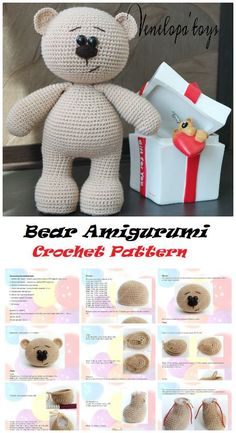 crochet bear 40 Cute Animal and Cartoon Character Amigurumi Crochet Patterns For Your Baby Part amigurumi crochet patterns; amigurumi crochet doll - Amigurumi has been a big trend in the world of crocheting for some time Crochet Bear Patterns, Crochet Bunny Pattern, Amigurumi Patterns, Afghan Patterns, Free Crochet, Amigurumi Animals, Amigurumi Toys, Crochet Animals, Bonnet Crochet