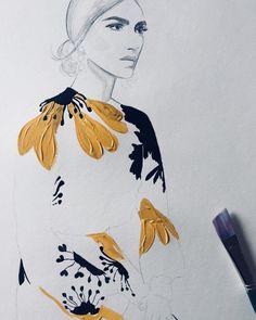 loat like a , sting like a #fashionillustration #showyourwork #makeart #gouache #painting #justdoyou #valentino @maisonvalentin