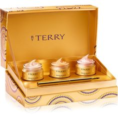 BY TERRY Gold Baume de Rose Trio Deluxe ($339) ❤ liked on Polyvore featuring beauty products, fragrance, colorless, rose fragrance, rosebud perfume, by terry, gold fragrance and gold perfume