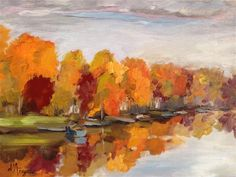 """Fall Colors"" - Original Fine Art for Sale - � Karen D'angeac Mihm"