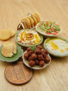 Falafel  112 Scale Dollhouse Miniature Food by shayaaron on Etsy.