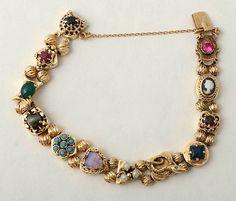 Gold Watch Slide Bracelet at Witch Jewelry, Cameo Jewelry, Art Deco Jewelry, Antique Jewelry, Vintage Jewelry, Moon Jewelry, Sea Glass Jewelry, Gemstone Bracelets, Charm Bracelets
