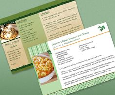 Recipe card templates from HP