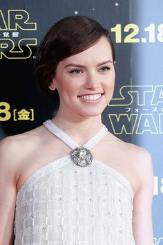 Daisy Ridley attends the 'Star Wars: The Force Awakens' fan event at the Roppongi Hills on December 10, 2015 in Tokyo, Japan.