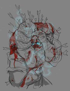 god of war Ed Wallpaper, God Of War Series, Character Art, Character Design, Kratos God Of War, Cartoon Crossovers, Game Concept Art, Environment Concept Art, Gorillaz