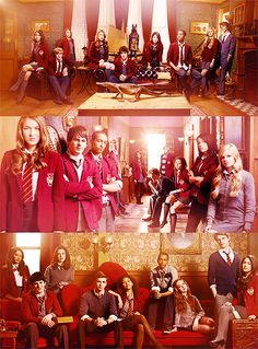 House of Anubis through the seasons. Gotta love the alligator in season one!  XP