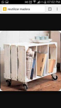 Con tan solo una caja de madera y unos cuantos libros pues hacer esto para tu habitación
