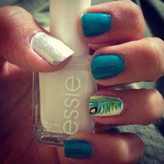 Peacock nails :)