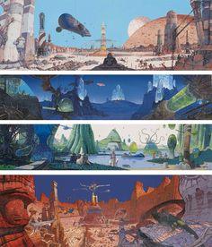 Moebius landscapes