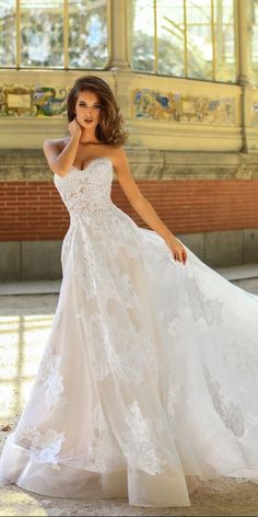 a line lace strapless sweetheart neckline with train victoria soprano 2018 wedding dresses style hanna
