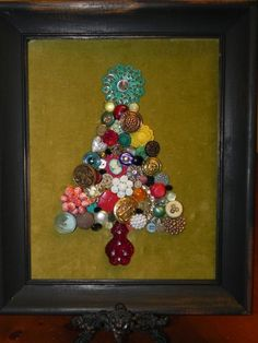 Custom Made Framed Christmas Tree Made from by FunkyJunkyPeacock, $49.95