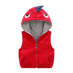Anbaby Little Boys' Winter Dinosaur Hooded Thick Vest Jacket Red 130. Material:Fabric: 42.7% cotton 52.4% polyester;Lining:100% cotton. Season:Autumn,Winter. Machine or hand wash cold / Do not bleach. 3D fashion cartoon cap,you boy would love this great looking. Please check the detail information about size in the picture before buying so that you could choose the most suitable size for your kid.
