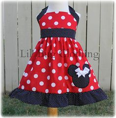 Custom Boutique Clothing Minnie Mouse Big  Dot by LilBugsClothing