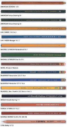 Brand Name Pencils is an online shrine to Bob Truly's incredible pencil collection. Well worth checking out
