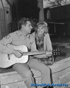 Andy Griffith and Maggie Peterson