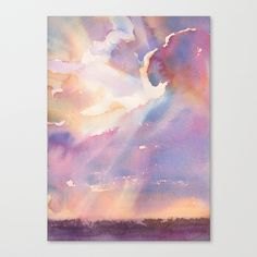 Splits the Silver Lining Stretched Canvas by Yevgenia Watts | Society6