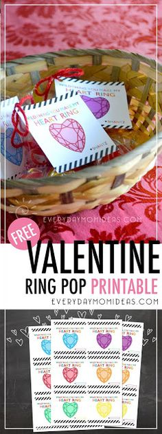 This Valentine printable sheet comes with six different colored heart jewels and a place for your child to sign their name. Perfect for ring pops, heart suckers or just about anything heart shaped, or on a ring.