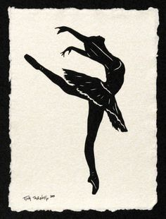 Sylvie Guillem No3 HandCut Silhouette Papercut by tinatarnoff