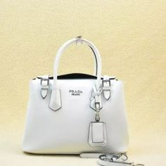 2014 Latest Prada Calf Leather Tote Bag BR5071M in White
